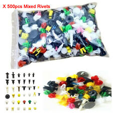 500Pcs Mixed Auto Car Door Plastic Fastener Clips Panel Bumper Fender Trim Rivet