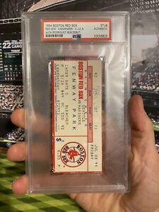 PSA Ticket Baseball 1994 7/8 Alex Rodriguez MLB Debut Ticket Seattle Mariners