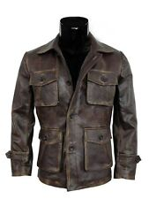 Supernatural Season 7 Leather Jacket Dean Winchester Distressed Brown Coat 2XL