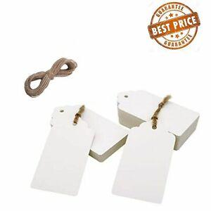 Premium ECO KRAFT Scallop Rectangular Paper Gift TAGS Card Label  Free string