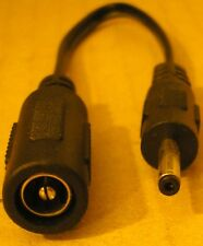 DC Power Tip-plug Adapter 5.5mm/2.1 female to male 3.0mm/1.1 CABLE 10cm SNOOPER