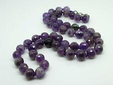 Carved Amethyst Bead Necklace