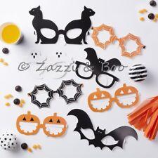 Pack 8 Happy Halloween Party Game Decoration PHOTO PROP FUN GLASSES Pumpkin Bat