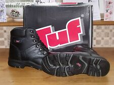 Tuf Steel Toe Capped Ankle Boots (Black - Style 102-020)