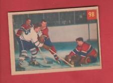 Vintage Original 1954 Parkhurst Montreal Canadiens Jacques Plante Card #98