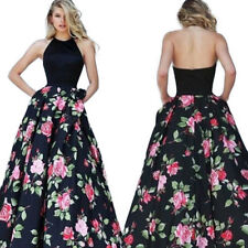 US Womens Formal Long Prom Evening Bridesmaid Wedding Cocktail Party Maxi Dress
