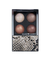 HARD CANDY Mod Quad Baked Eyeshadow Wet Dry Palette BROWNIE POINTS Neutral Brown