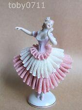 Unterweissbach porcellana di Dresda in Pizzo Ballerina FIGURINA (Ref949)