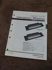 Yamaha Portatone Keyboard PSR-2500 X2500 Service Repair Shop Manual PSR 2500 X