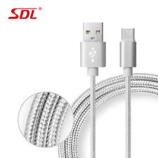 2 en 1 Sdl Tipo-C Sincronización Datos USB para Cargar Cable Trenzado