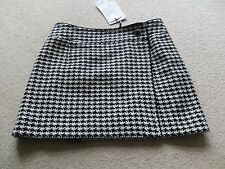 BLACK DOG TOOTH CHECK LINED SKIRT SIZE 10 BY DOLCE & GABBANA NEW WITH TAG