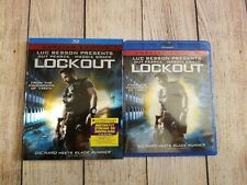 Lockout (Blu-ray, 2012, Unrated Edition) w/ Rare OOP Slipcover. Guy Pearce