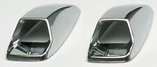 2x ventilación de lavado de pantalla coche cromo cubre autoadhesiva