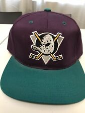 Vintage Anaheim MIGHTY DUCKS Sports Specialties Snapback adjustable Hat NEW