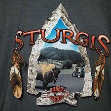Harley Davidson HD Mens Sturgis South Dakota Arrowhead Short Sleeve T-Shirt NEW