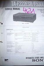Service Manual Sony TA-F222ESR/TA-F530ES Amplifier,ORIGINA