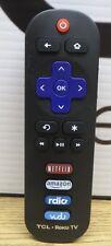 Genuine TCL RC280 ROKU SMART TV Remote Control Netflix, Amazon, Radio, Vudu A30