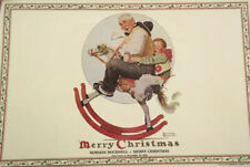 4 VINTAGE NORMAN ROCKWELL CHRISTMAS SCENE PERMANENT PLASTIC PLACEMATS