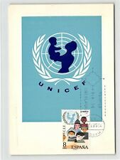Spain MK 1971 UNICEF UN un maximum Card Carte Maximum Card MC cm d9836