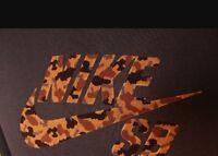 Nike SB X Poler DriFit Black Shirt Sz M Leopard Cheetah Animal Print Safari