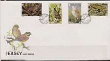 GB - JERSEY 1989 Rare Fauna/WWF/Endangered Animals SG 492/5 FDC BIRDS BUTTERFLY