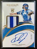 2019 Panini Immaculate DANNY JANSEN Autograph RC Jersey Patch RPA Relic SP /99