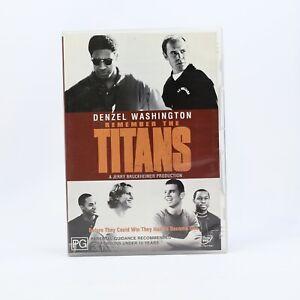 Remember The Titans Denzel Washington 2002 DVD R4 Movie Good Condition