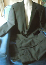 "Skopes BNWT dark pinstripe suit jacket trousers 60% wool C.44"" L.30"" purple (48)"