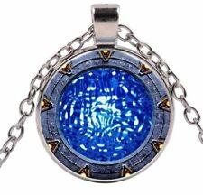 Stargate SG-1 TV Show Themed  Glass Domed Portal Gate Metal Pendant Necklace