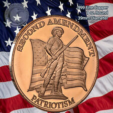 """2nd Amendment Patriotism"" 1 oz .999 Copper Round"
