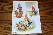 David The Gnome Rien Poortvliet 7 Different Decoupage Paper Cut Sheet You Choose