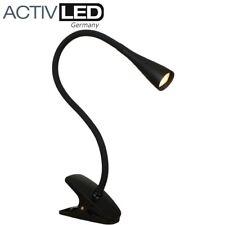 LED Klemmleuchte *swan* in schwarz Tischleuchte Schreibtischleuchte Klemmlampe