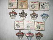 7 MIXED ..BEER, SODA POP   wall Bottle Openers   STARR X       VINTAGE ORIGINAL