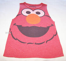 Sesame Street Elmo Ladies Red Printed Sleeveless Muscle Top Size XS New