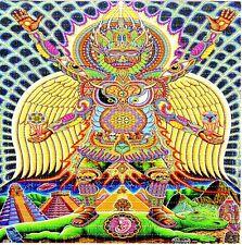"2.5"" Mushroom, Marijuana, Salvia or LSD Mandala STICKER. For glass bong or pipe."