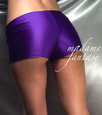 MADAME FANTASY PURPLE SHINY SPANDEX MICRO SHORTS HOT PANTS XS-XXXL