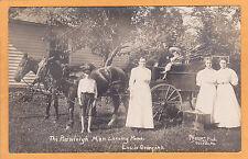 Real Photo Postcard RPPC - Rawleigh Man & Family Remedy Wagon Osceola Missouri
