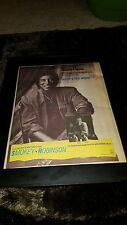 Smokey Robinson What's Too Much Rare Original Radio Promo Poster Ad Framed!