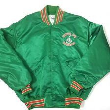 Florida A&M Rattlers Adult Green Jacket Lined Embroidered Snaps XL FAMU Vintage