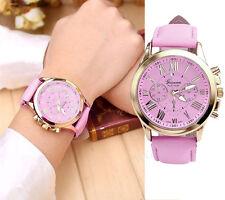 Fashion Ladies Luxury Watch Roman Numerals Leather Analog Quartz Wrist Watches