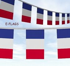 10 METRES OF BLUE WHITE RED FLAG BUNTING DRAPEAU DE LA FRANCE RUGBY 6 NATIONS