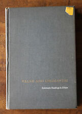 Value and Obligation : Systematic Readings in Ethics by Richard B. Brandt 1961 H