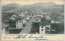 CARTOLINA d'Epoca COMO  - Ponte Chiasso 1903