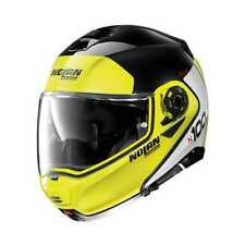 Nolan N100-5 Plus Distinctive Flip up Motorcycle Helmet NCom Black/Yellow WQ