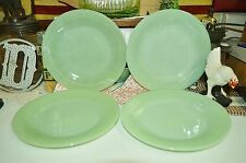"4 Vintage Fire King Jadeite Jadite Jane Ray 9"" Dinner Plates Excellent Condition"