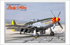 P-51 D MUSTANG - Lady Alice - Aircraft Poster
