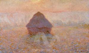 Haystack, Sun in the Mist by Claude Monet Premium Giclee Print