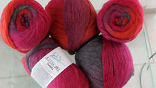 500g TAHIRA ONline 215m/ 50g Kirsche Color Wolle MERINO stricken Fb 05 UVP59,90€