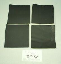 "4-pack New Ebony Black Craft Leather Piece w/Foam Backing 4.5"" by 4.5"" ZE35-4545"