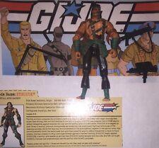 Nunchuk 2002 Hasbro G.I. JOE ARAH Action Figure Case File Card Accessories Lot